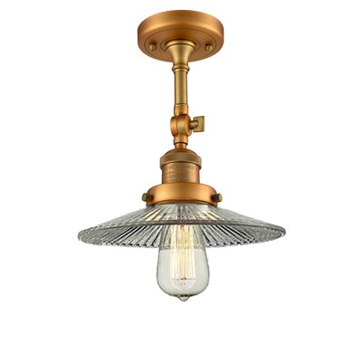 Halophane 1-Light Semi Flush Mount Finish: Brushed Brass