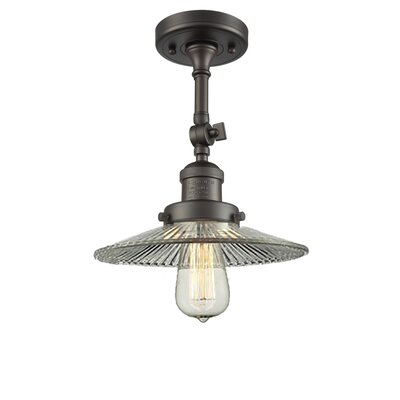 Holophane Glass 1-Light Semi Flush Mount Finish: Oiled Rubbed Bronze