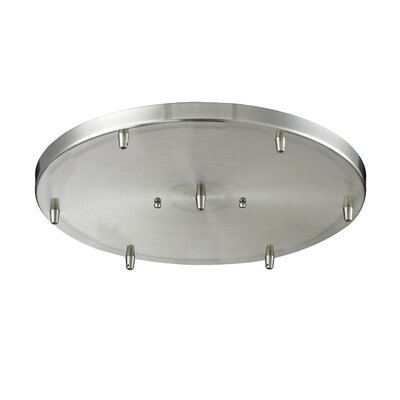 6-Light Pan Accesory Finish: Satin Nickel