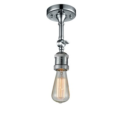 Bare Bulb 1-Light Semi Flush Mount Finish: Polished Chrome