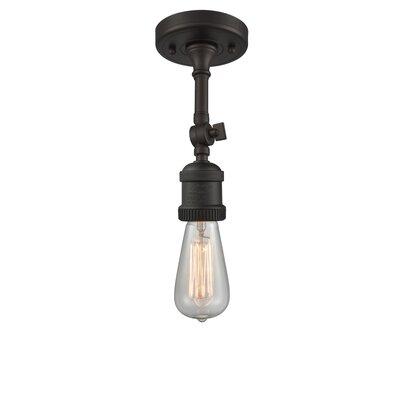 Bare Bulb 1-Light LED Semi Flush Mount Finish: Oil Rubbed Bronze
