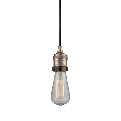 Bare Bulb 1-Light Mini Pendant Finish: Antique Copper