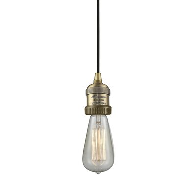 Single Socket Pendant Light Cord Finish: Brushed Brass