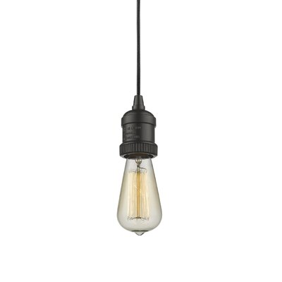 Bare Bulb 1-Light Mini Pendant Finish: Oiled Rubbed Bronze