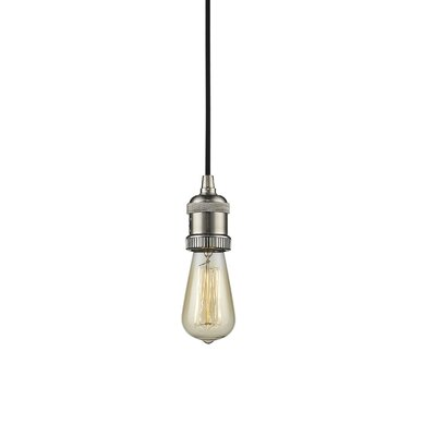 Single Socket Pendant Light Cord Finish: Brushed Satin Nickel