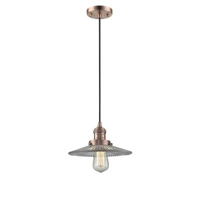 Holophane Glass 1-Light Mini Pendant Finish: Antique Copper