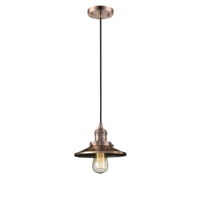 Railroad Shade 1-Light Mini Pendant Finish: Antique Copper