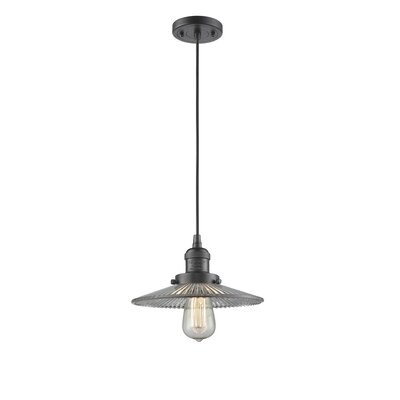 Holophane Glass 1-Light Mini Pendant Finish: Oiled Rubbed Bronze