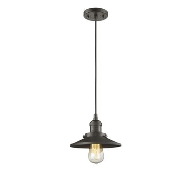 Railroad 1-Light Mini Pendant Finish: Oil Rubbed Bronze