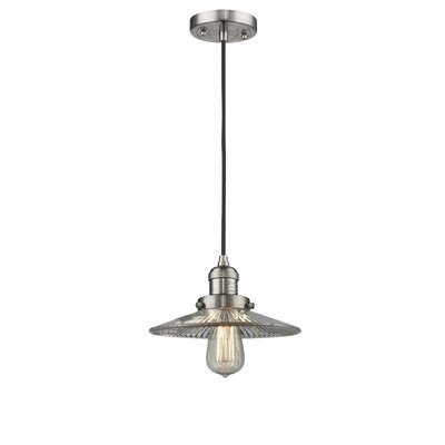 Holophane Glass 1-Light Mini Pendant Finish: Satin Nickel