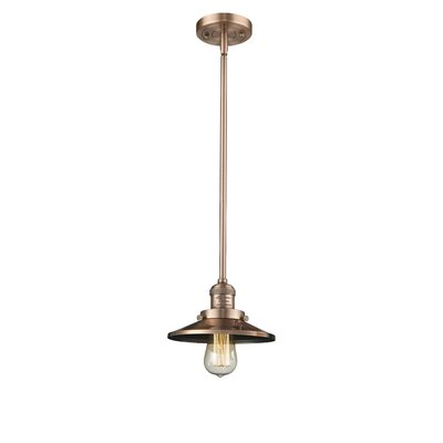 Railroad Shade 1-Light Pendant Finish: Antique Copper