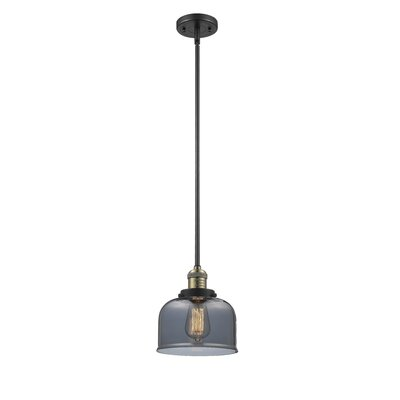 Large Bell 1-Light Mini Pendant Finish: Polished Nickel, Shade Color: Matte White Cased