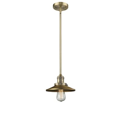 Railroad Shade 1-Light Pendant Finish: Brushed Brass