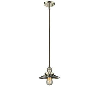 Railroad Shade 1-Light Pendant Finish: Polished Nickel