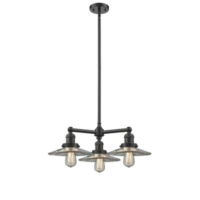 Halophane 3-Light Kitchen Island Pendant Finish: Oil Rubbed Bronze