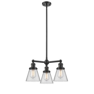 3-Light Pool Table Light Finish: Oil Rubbed Bronze, Shade Color: Clear, Size: 41 H x 19 W x 11 D