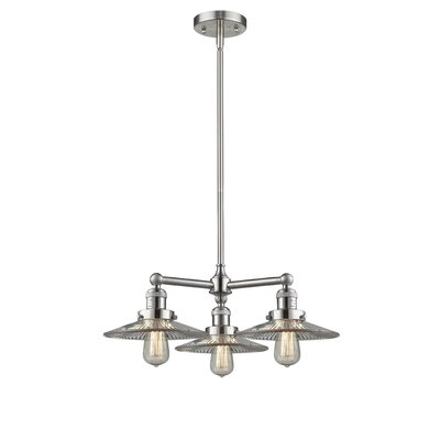 Halophane 3-Light Kitchen Island Pendant Finish: Brushed Satin Nickel