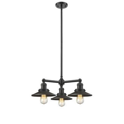 Railroad 3-Light Pool Table Light Finish: Oiled Rubbed Bronze