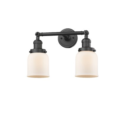 Lythragkomi 2-Light Armed Sconce Shade Color: Matte White Cased, Size: 9