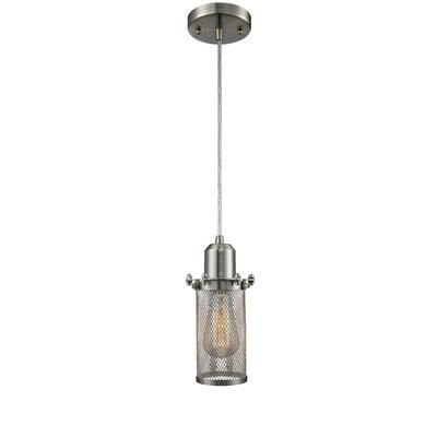 Quincy Hall 1-Light Mini Pendant Finish: Satin Nickel