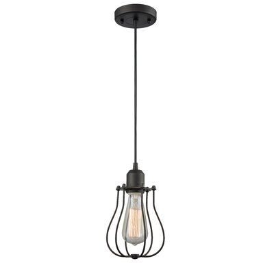Muselet 1-Light Mini Pendant Finish: Oiled Rubbed Bronze