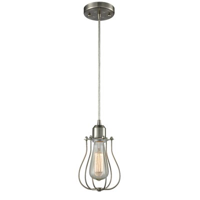 Muselet 1-Light Mini Pendant Finish: Satin Nickel