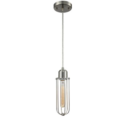 Deshields 1-Light Mini Pendant Finish: Brushed Satin Nickel