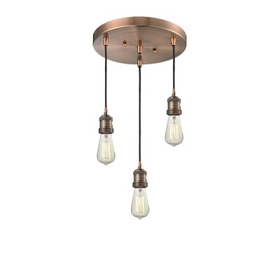 Bare Bulb 3-Light Pendant Finish: Antique Copper