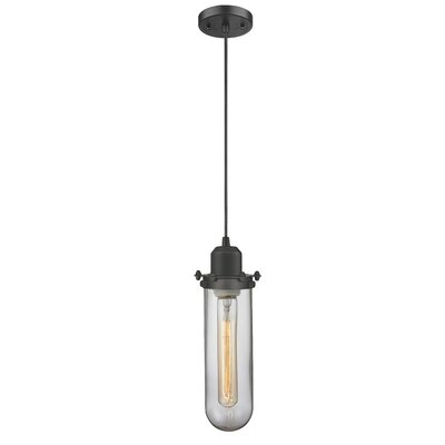 Centri 1-Light Mini Pendant Finish: Oiled Rubbed Bronze, Shade Color: Matte White Cased