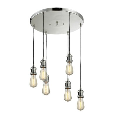 Bare Bulb 6-Light Pendant Finish: Satin Nickel