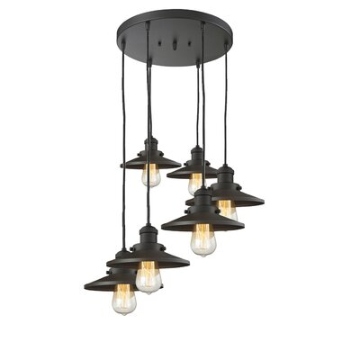 Railroad 6-Light Cluster Pendant Finish: Oil Rubbed Bronze