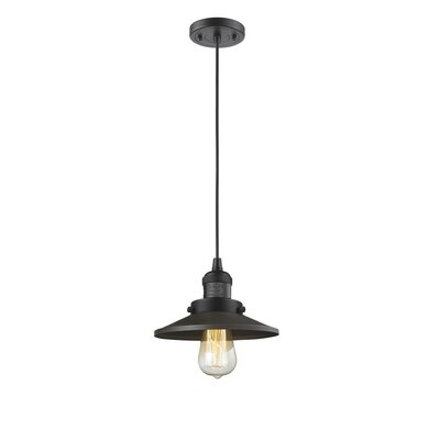 Railroad Shade 1-Light Mini Pendant Finish: Oiled Rubbed Bronze