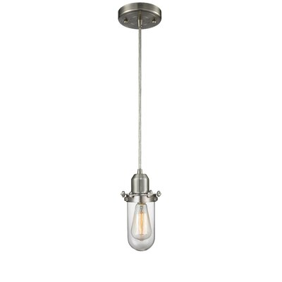 Centri 1-Light Mini Pendant Finish: Satin Nickel, Shade Color: Clear