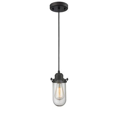 Centri 1-Light Mini Pendant Finish: Oiled Rubbed Bronze, Shade Color: Clear