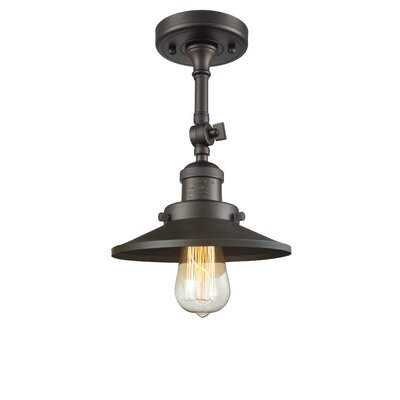 Railroad 1-Light Semi Flush Mount Finish: Oil Rubbed Bronze
