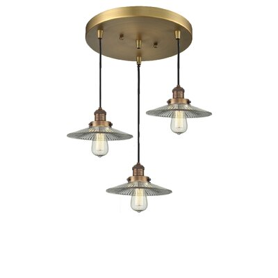 Halophone 3-Light Cluster Pendant Finish: Brushed Brass