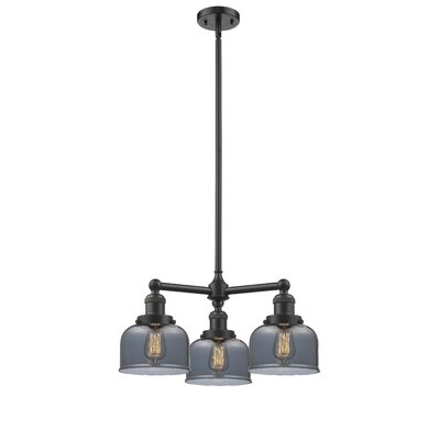 Large Bell 3-Light Pool Table Light Finish: Oil Rubbed Bronze, Shade Color: Smoked