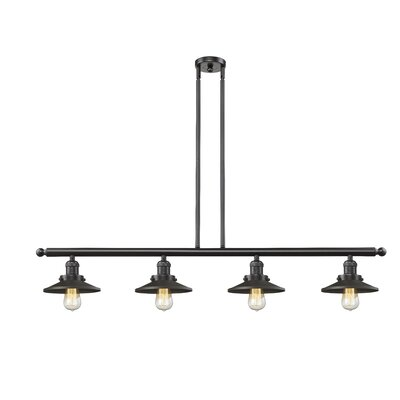 Railroad 4-Light Kitchen Island Pendant Finish: Oil Rubbed Bronze