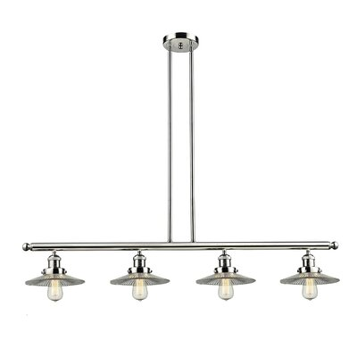 Halophane 4-Light Kitchen Island Pendant Finish: Polished Nickel