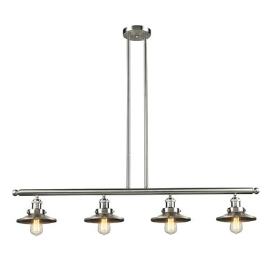 Railroad 4-Light Kitchen Island Pendant