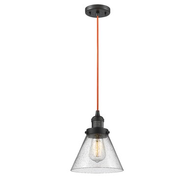 Adalberto 1-Light Mini Pendant Finish: Oiled Rubbed Bronze, Size: 8 H x 5 W x 5 D