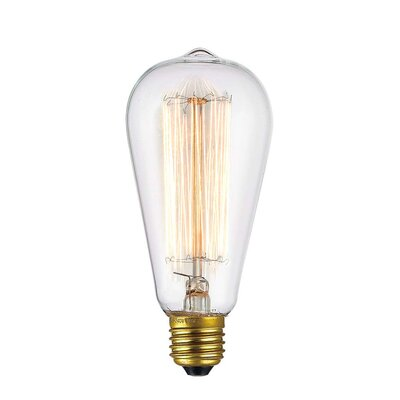 4W E26/Medium LED Vintage Filament Light Bulb