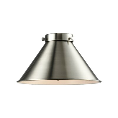 10 Metal Empire Pendant Shade Finish: Brushed Satin Nickel
