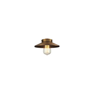 8 Metal Empire Pendant Shade Finish: Brushed Brass