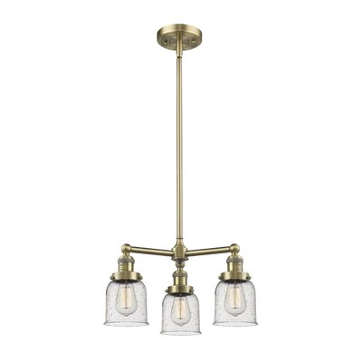 Adalbert Small Bell 3-Light Mini Chandelier Finish: Antique Brass