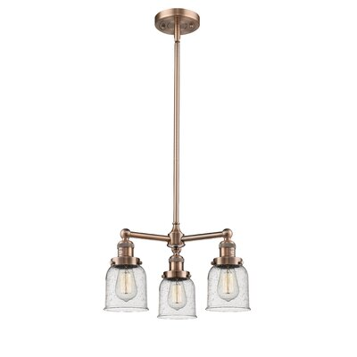 Adalbert Small Bell 3-Light Mini Chandelier Finish: Antique Copper
