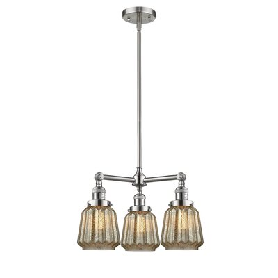 Vinson 3-Light Mini Chandelier Finish: Brushed Satin Nickel