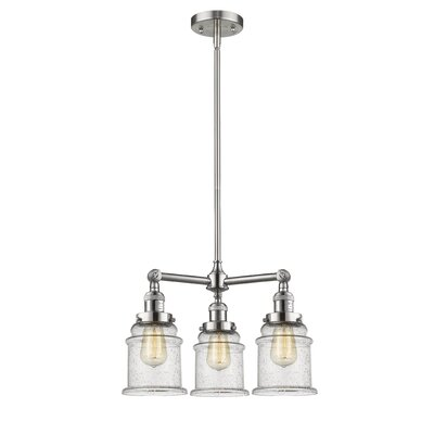 Greeley 3-Light Mini Chandelier Finish: Brushed Satin Nickel