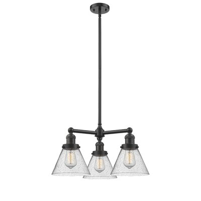 Adelinda Large Cone 3-Light Mini Chandelier Finish: Oil Rubbed Bronze
