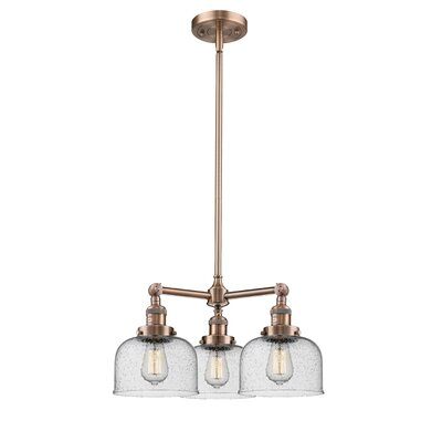 Ailbe Large Bell 3-Light Mini Chandelier Finish: Antique Copper